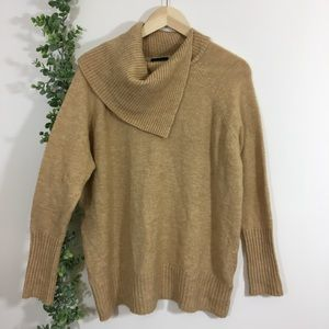 Topshop asymmetrical cowl neck sweater